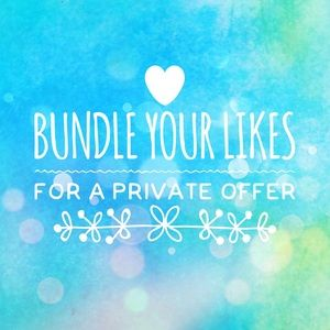 Other - Bundle likes for private offer 😊💙